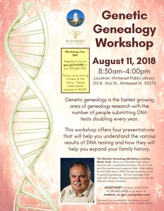 081118 genetic genealogy flyer
